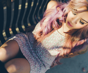 blond, girly, and hipster image