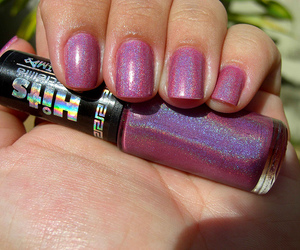 girl, glitter, and nail polish image