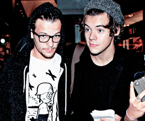boyfriends, louis tomlinson, and Harry Styles image