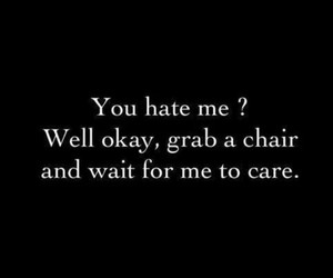 hate, care, and quote image