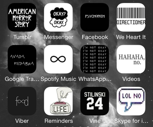 icons, black, and grunge image