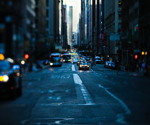 cars, city, and new york image