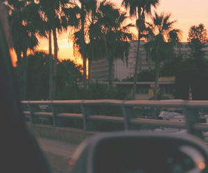 sunset, summer, and car image