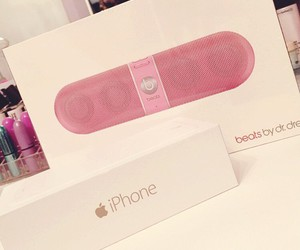 beats, iphone, and pink image
