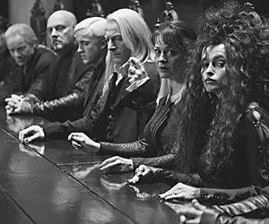 harry potter, bellatrix lestrange, and draco malfoy image