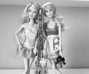 barbie, beautiful, and black and white image