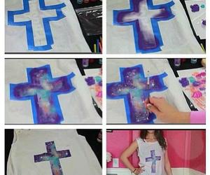 diy, galaxy, and t-shirt image