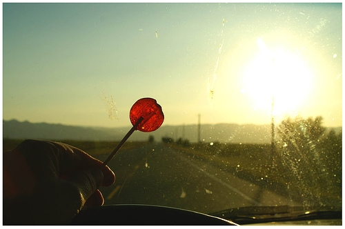 car, lollipop, and red image