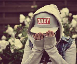 obey and girl image