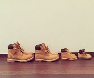 family, shoes, and timberland image