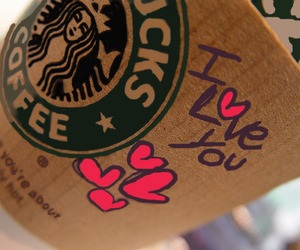 starbucks, coffee, and I Love You image