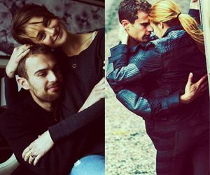 couple, divergent, and love image