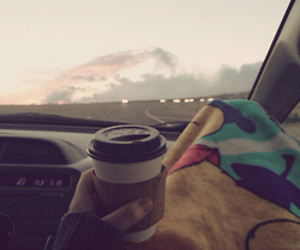 coffee, travel, and car image