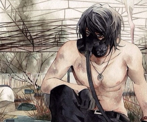 anime and gas mask image