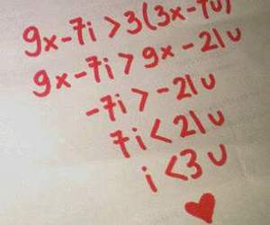 equation, I Love You, and math image