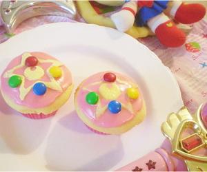 cupcake, sailor moon, and food image