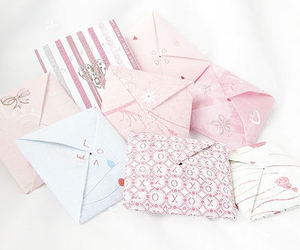 letters, pink, and Letter image