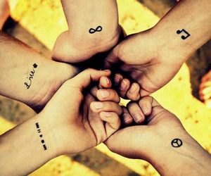 little, wrist, and Tattoos image