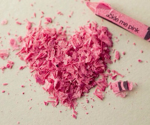 pink, heart, and crayon image