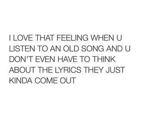 feeling, love music, and Lyrics image