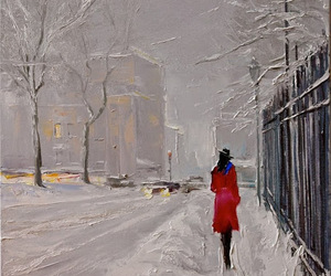 painting, art, and snow image