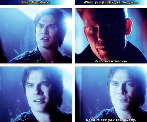 damon, the vampire diaries, and alaric image
