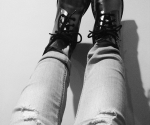 blackandwhite, boots, and clothes image