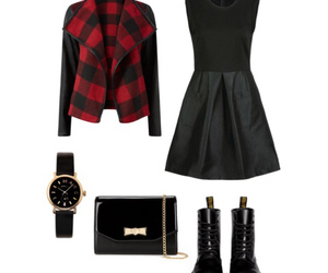 clothes, Polyvore, and red and black image
