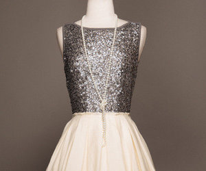 dress, glitter, and silver image