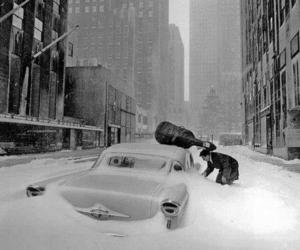 new york and snow image