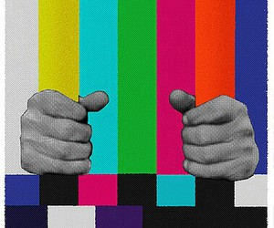 tv, hands, and colors image