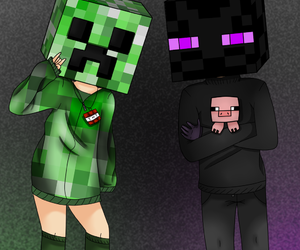 anime, creeper, and gamers image