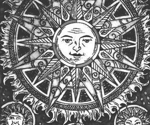 sun, moon, and art image