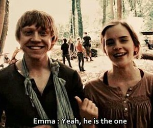 emma watson, harry potter, and rupert grint image
