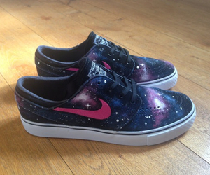 shoes, nike, and galaxy image