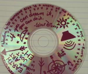 art, cd, and drawing image