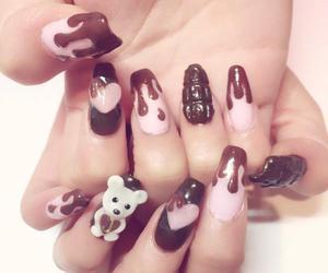 bear, kawaii, and nails image