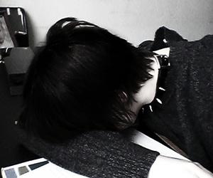 black, black hair, and boy image