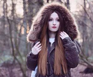alt model, brown hair, and dyed hair image