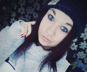 alt girl, black hair, and dyed hair image