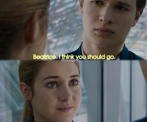 divergent, beatrice prior, and caleb prior image