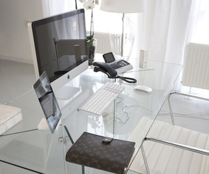apple, Louis Vuitton, and office image