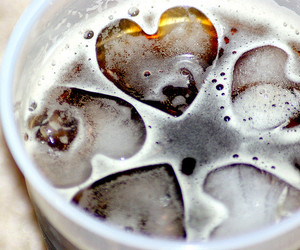 heart, drink, and ice image