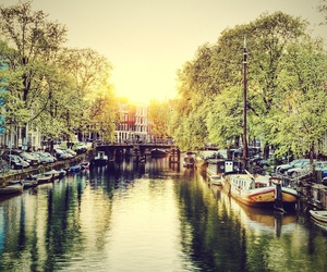 amsterdam, city, and beauty image