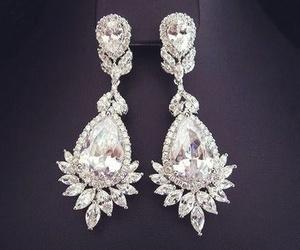 diamond, earrings, and luxury image