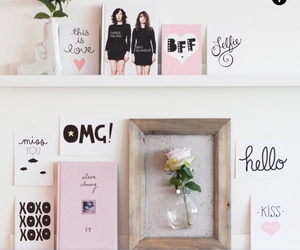 pink, flowers, and decor image