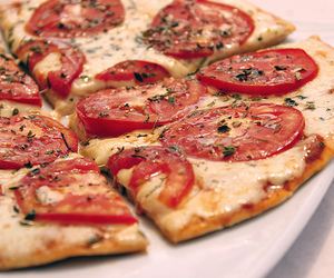 pizza, food, and tomato image