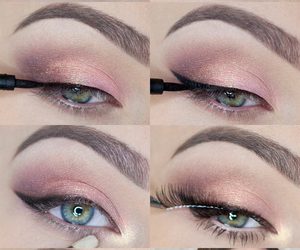 girl, makeup, and step by step image