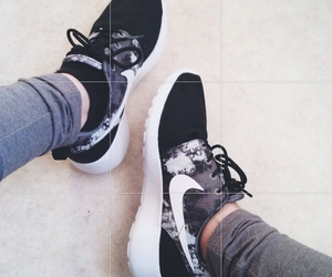 black and white, shoes, and sport image