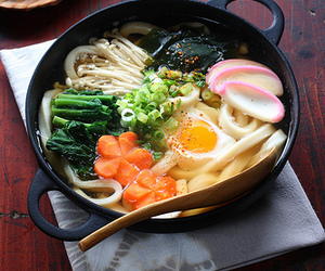 food, udon, and japan image